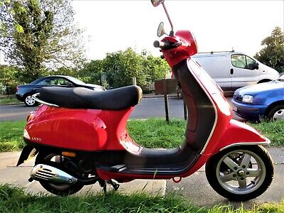 Vespa LX 50 10k Miles Stunning Dragon Red and unmarked just serviced & new tyres