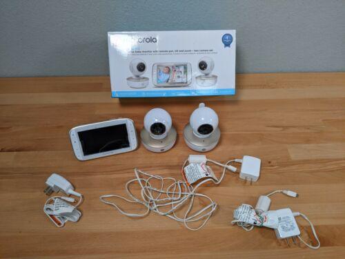 *Read* Motorola MBP50G2 5 inch Portable Video Baby Monitor 2 Cameras