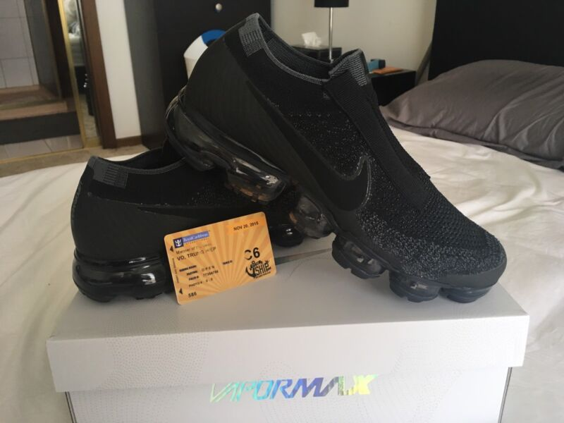 eedf51c19c95a ireland nike air vapormax flyknit se laceless triple black mens shoes bf84b  71ad5