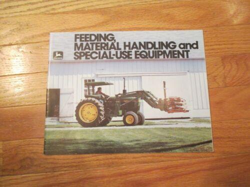 John Deere Material Handling Equipment Vintage Dealer sales brochure
