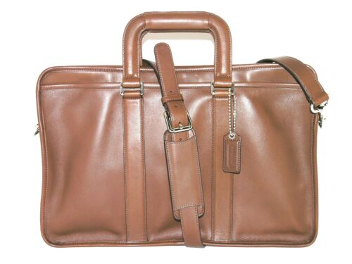Buy coach briefcases. - Coach Mens 70374 Mahogany Brown Leather Embassy Brief Briefcase