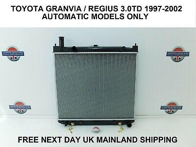TOYOTA HIACE REGIUS GRANVIA 3.0TD 1997-2002 AUTO IMPORT  RADIATOR & CAP