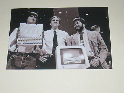 Apple Computer Founder RONALD WAYNE Signed 4x6 Photo AUTOGRAPH 1