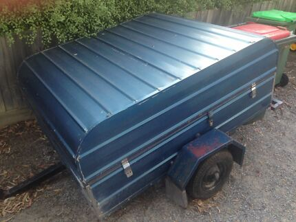 Treasure trunk trailer camping trailer