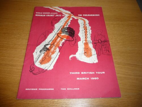 JAZZ At Philharmonic uk Programme  British Tour 60 AUTOGRAPHED B SHELLY MANNE