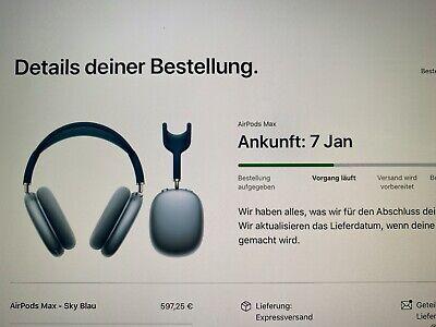 AirPods Max Sky Blau | Neu | Versand ab 07. Januar| direkt...