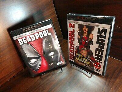 Deadpool 1 + 2 (4K UHD+Blu-ray-No Digital)Discs Unused- Free Shipping w/Tracking