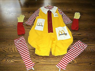 Vintage Ronald McDonald 1970's Original Costume/Uniform