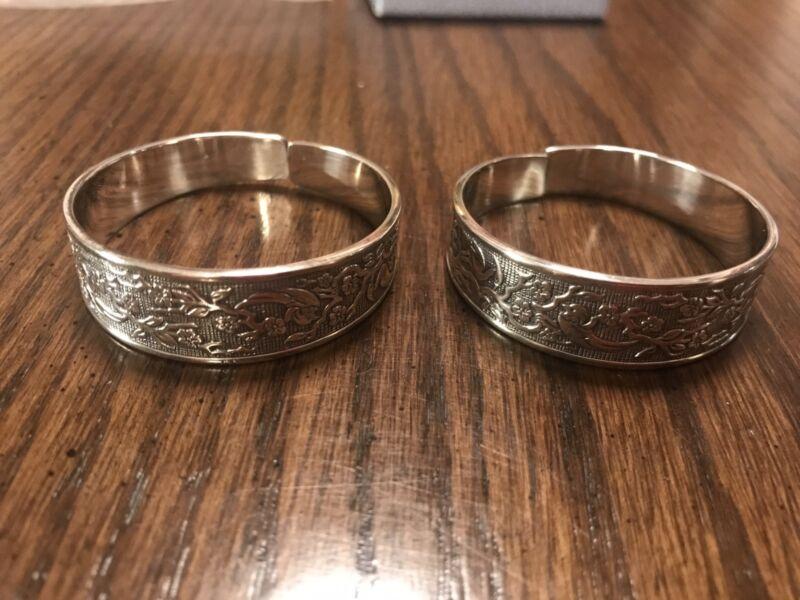 Pair Reed & Barton Sterling Napkin Rings NIB
