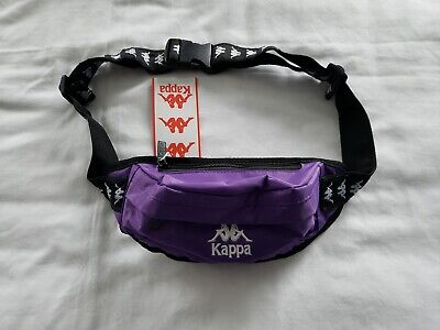 Kappa 222 Banda Authentic Anais Waist Pouch Violet Pansy/Blac Small Fanny Pack