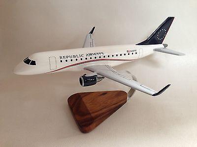 Embraer Erj 170 Emb 170 Republic Airways Airplane Desktop Wood Model