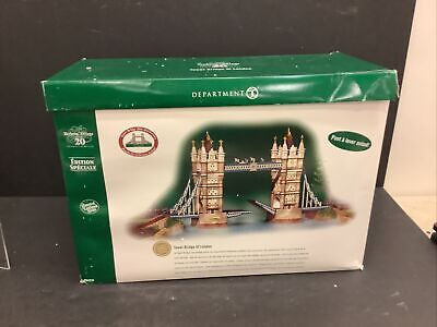 Dept 56 Dickens Village Tower Bridge of London 58705 Special Edition 58705 AS IS