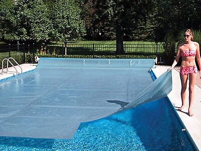 Space Age Swimming Pool Solar Heater Blanket Cover w/ Grommets -12 (Age Swimming Pool Solar Cover)