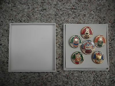 Boxed Set of Six Russian Pins