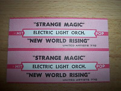 "2 ELO Electric Light Orchestra Strange Magic Jukebox Strip CD 7"" 45RPM Records"