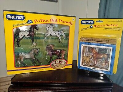 Breyer Polka for parade Stablemate set And Horse and foal Stablemate set NIB!!