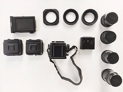 Mamiya RZ67 Pro II Medium Format SLR Film Camera with 4 Lenses and Accessories