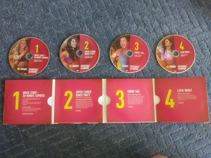 Zumba Fitness Incredible Slimdown DVD System Total Body Workout Exercise