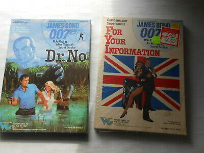 James Bond 007 Role Playing Games Dr. No & For Your Information 1984 NOS