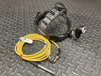 Welch Allyn Surgical Headlight With Fiber Optic Cable And Head Gear
