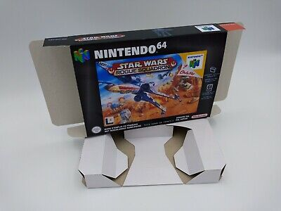 Star Wars Rogue Squadron - box and insert - N64 - Pal or NTSC -Thick cardboard.