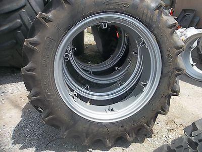 Ford John Deere 2 11.2x28 Tractor Tires W Rims 2 400x19 3 Rib Wtubes