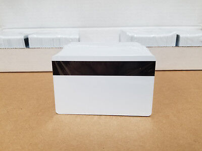 100 White Hico Mag Pvc Cards Cr80 .30 Mil 3 Track Magnetic Stripe Usa Shipping
