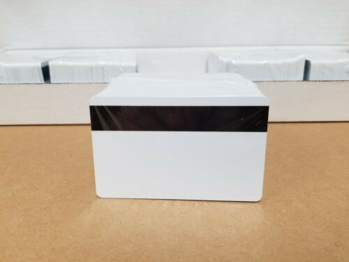 100 White HiCo Mag PVC Cards, CR80 .30 mil, 3 Track Magnetic Stripe USA Shipping