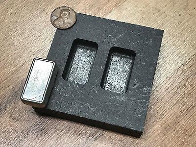 1 oz Loaf Bar - Silver Graphite Ingot Mold - Loaf Bar - Casting Melting Refining (Graphite Ingot Mold Silver)