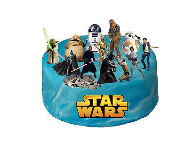 Star Wars Stand Up Premium Cake Scene, Edible Toppers, Kids Birthday Party, 1506