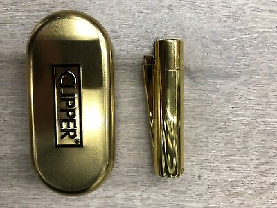 (NEW!!! 100% Authentic Clipper Gold Refillable Metal Lighter (2 Year Warranty!))