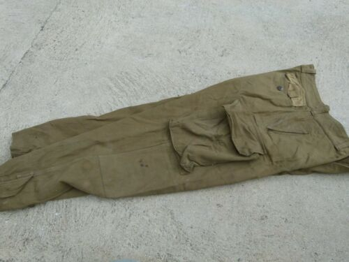 French Indochina War HBT Military Army M47 Field Trousers Pants dated 1953
