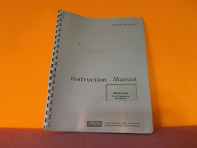 Fluke Model 871a Dc Differential Voltmeter Instruction Manual