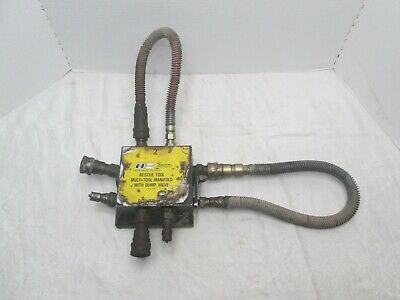 Hurst Jaws Of Life Rescue Systems Hydraulic Multi Tool Manifold W Dump Valve