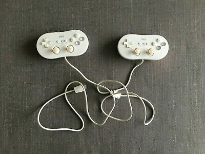 2 NINTENDO Wii  CLASSIC CONTROLLER  WHITE