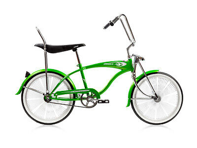 Original Lowrider Velour Swirl Grips With Chrome End Cap Lowrider Bicycle GREEN