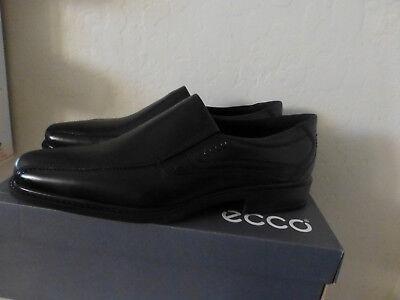 Ecco Men's New Jersey Bike Toe Slip-On Comfort Leather Loafer Black 45 New