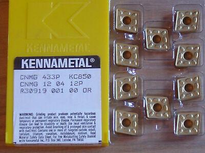 10 Pcs Cnmg 433p  Kennametal Kc850 Carbide Inserts
