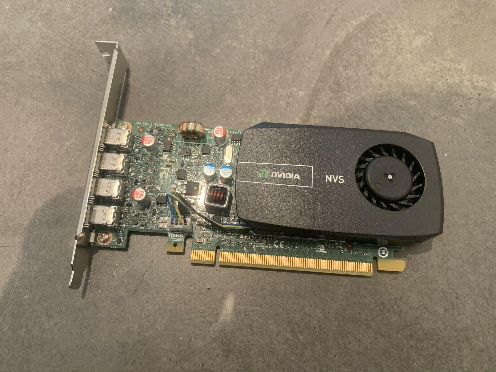 NVidia NVS510 2GB Grafikkarte 4x Mini DP 00FC861 4K incl Adapter Standard Profil