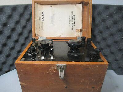 Vintage Leeds Northrup Co Potentiometer Wood 4198j