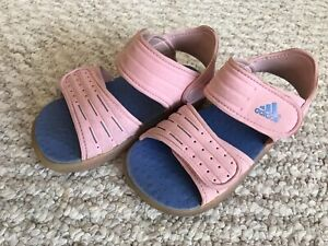 Adidas pink sandals (size: 8)
