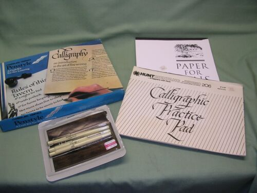 Calligraphy Set with Extra Paper, Pens, Booklets