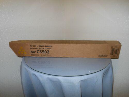 Genuine Ricoh MP C5502 Yellow Toner Print Cartridge New! 841752