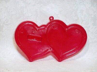 Vintage Amscan Plastic Cookie Cutter - Double Hearts Valentines Day Love Wedding - Valentines Day Hearts