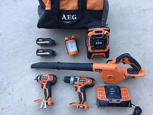 Workshop tools - a Bag of AEG 18V battery drills, tools in vgc. Tanawha Maroochydore Area Preview