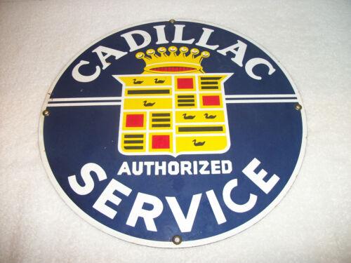 """Vintage Cadillac Service Metal Sign 11 3/4"""""""