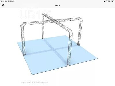 Aluminum Triangle Truss Trade Show Booth Mission 8.5h 16 6 Sq. X Shape Nos
