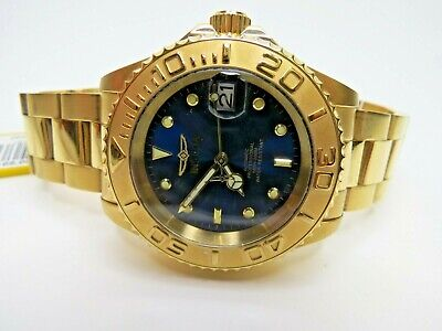 Invicta Men's Automatic Watch Pro Diver 40mm Blue Gold 26997