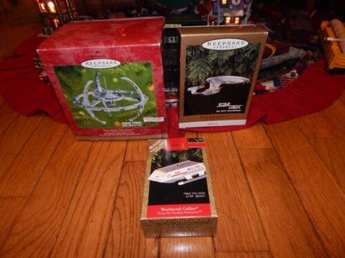 Lot of 3 Star Trek Christmas Ornaments in Boxes- Hallmark