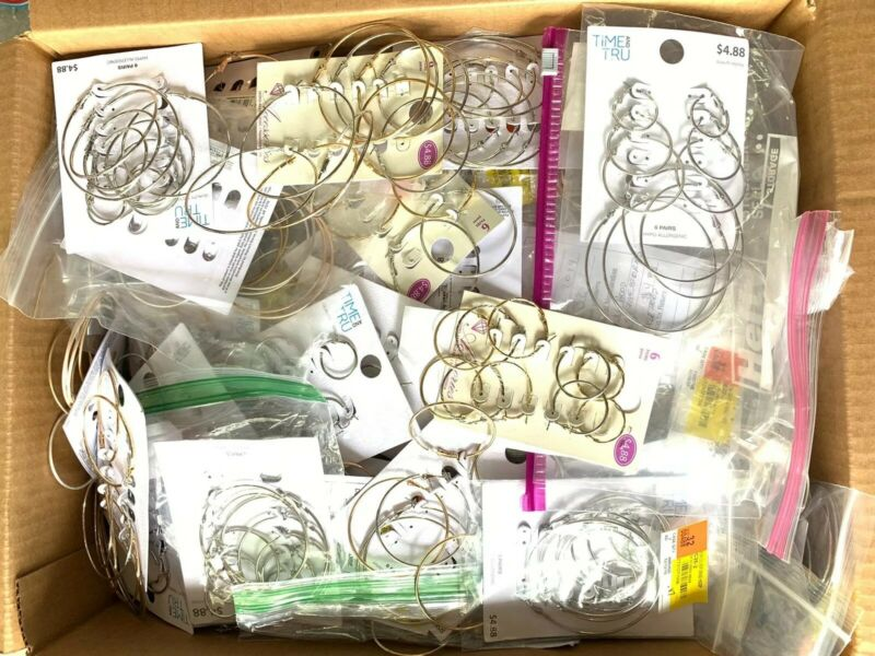 30 lb pounds Wholesale Lot of Hoop Earrings Store Shelf Pulls Closeout Cards